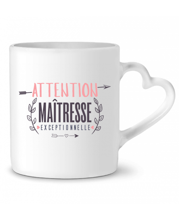 Mug Coeur Attention maîtresse exceptionnelle par tunetoo