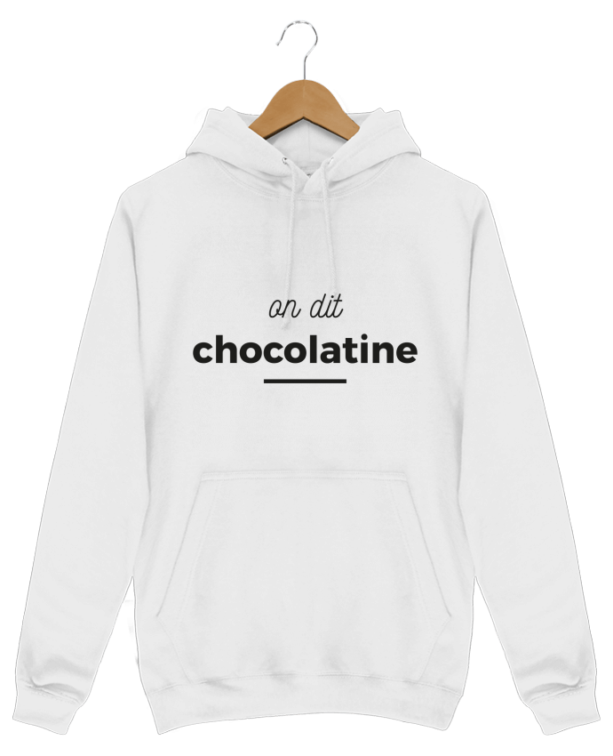 Sweat Shirt à Capuche Homme On dit chocolatine par Ruuud