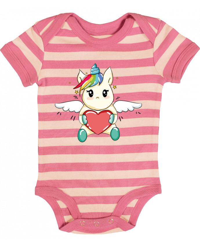 Body Bébé à Rayures Licorne Love - CBM-Boutique
