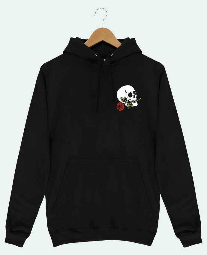 Sweat Shirt à Capuche Homme Skull flower par Ruuud