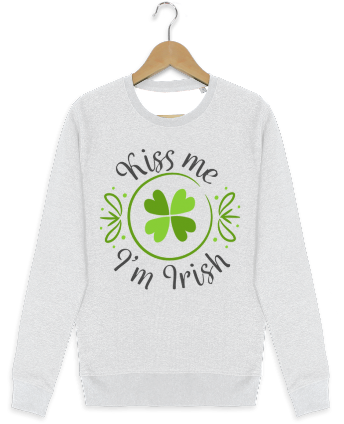 Sweat Col Rond Stella Seeks Kiss me I'm Irish par tunetoo
