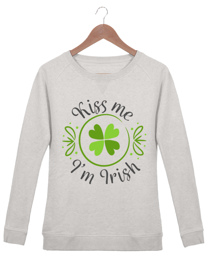 Sweat Col Rond Femme Stella Trips Kiss me I'm Irish par tunetoo