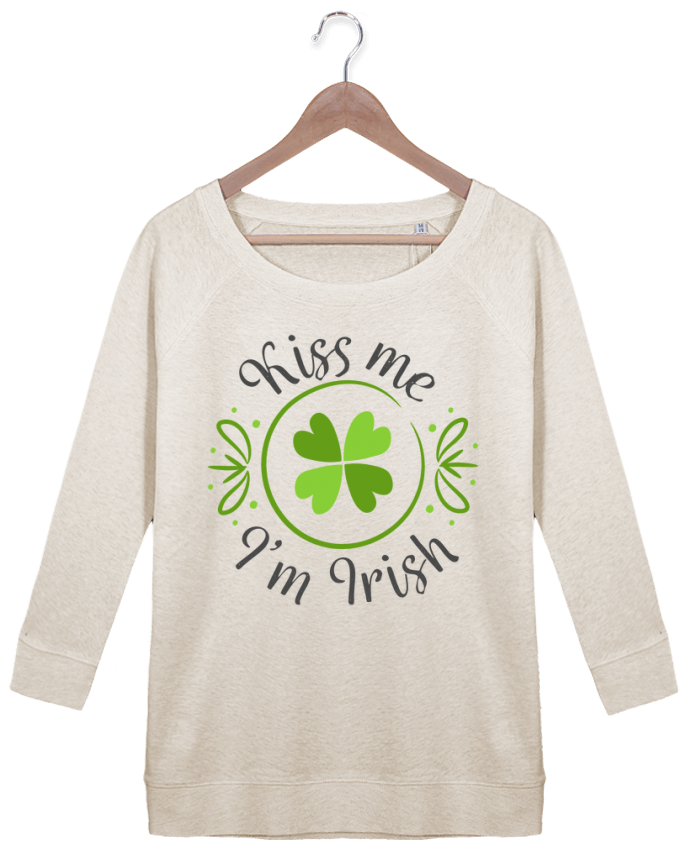Sweat Manches 3/4 Femme Stella Amazes Tencel Kiss me I'm Irish par tunetoo