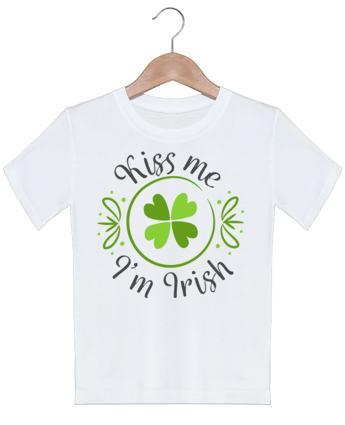 T-shirt Enfant Kiss me I'm Irish tunetoo