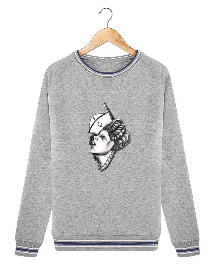 Sweat Col Rond Stella Trips Tipped Femme capitaine par david