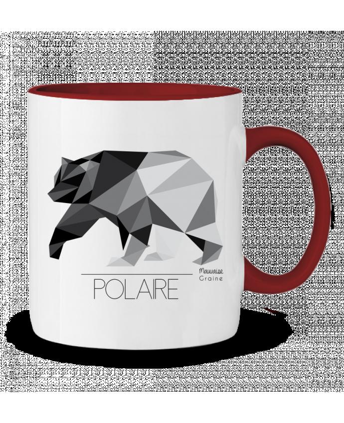 mug en c ramique bicolore ours polaire origami mauvaise graine. Black Bedroom Furniture Sets. Home Design Ideas