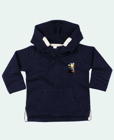 Sweat Bébé Zippé à Capuche Metal Factory par flyingmouse365