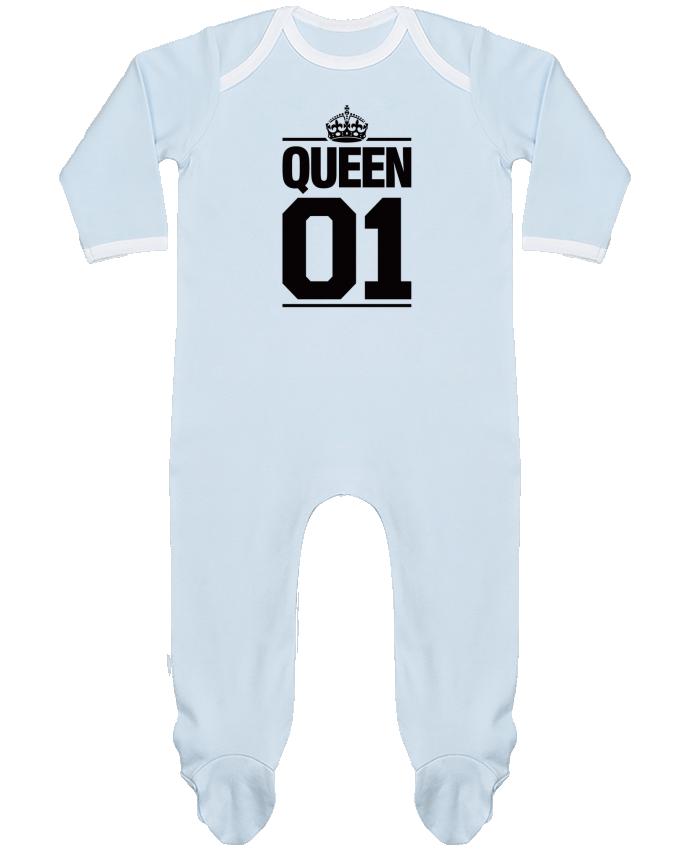 Pyjama Bébé Manches Longues Contrasté Queen 01 par Freeyourshirt.com