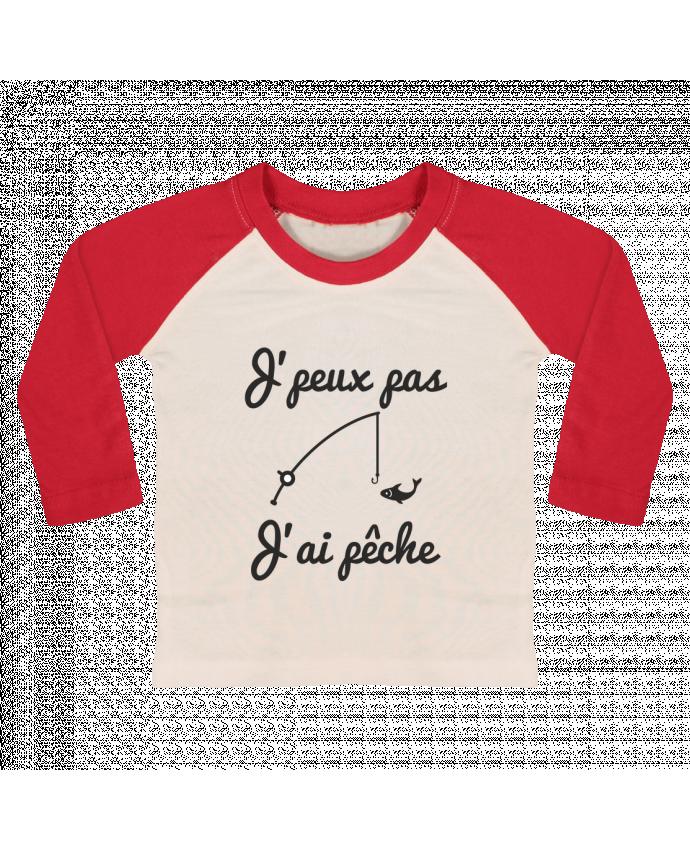 T-shirt Bébé Baseball Manches Longues J'peux pas j'ai pêche,tee shirt pécheur,pêcheur par Benichan