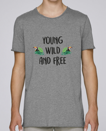 T-shirt Homme Oversized Stanley Skates Young, Wild and Free par IDÉ'IN