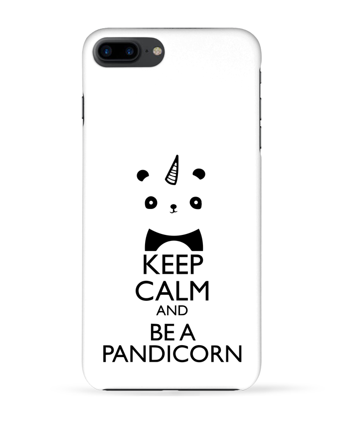 coque 3d iphone 7  keep calm and be a pandicorn tunetoo