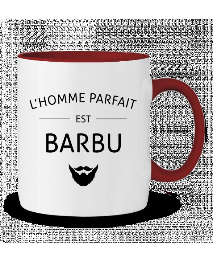 Mug en Céramique Bicolore L'homme parfait est barbu LPMDL