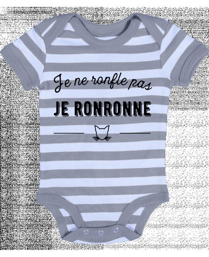 Body Bébé à Rayures je ronronne t-shirt humour - Original t-shirt