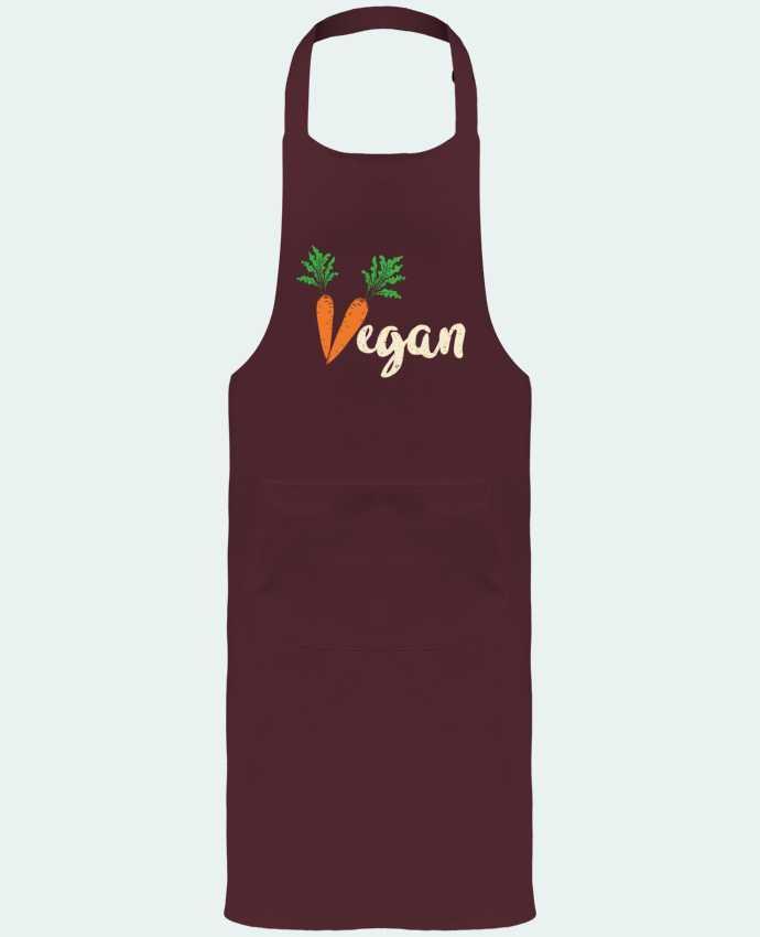 Tablier de Jardinier ou Sommelier avec Poche Vegan carrot par Bichette