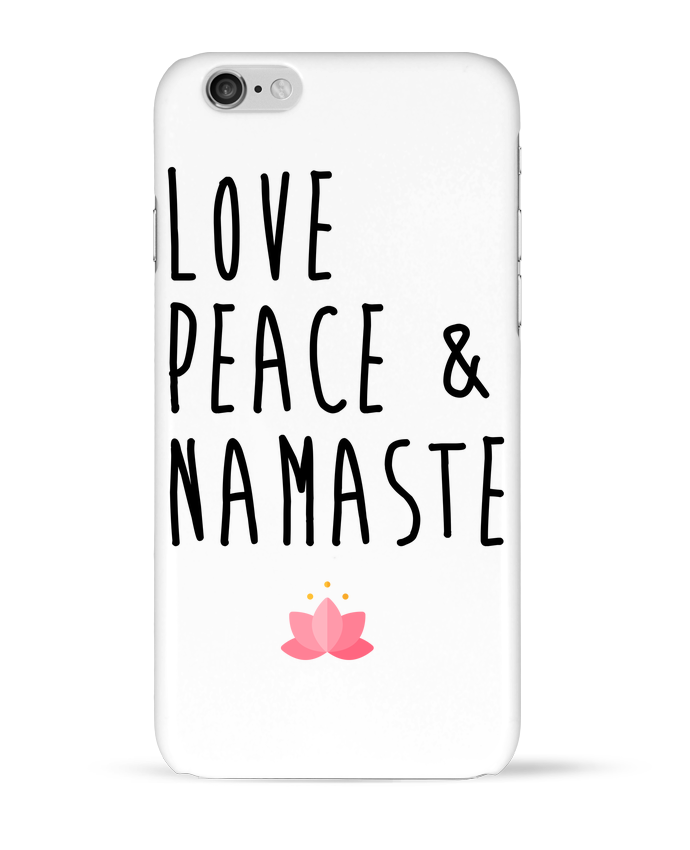 2473599 coque 3d iphone 6 blanc love peace namaste by tunetoo