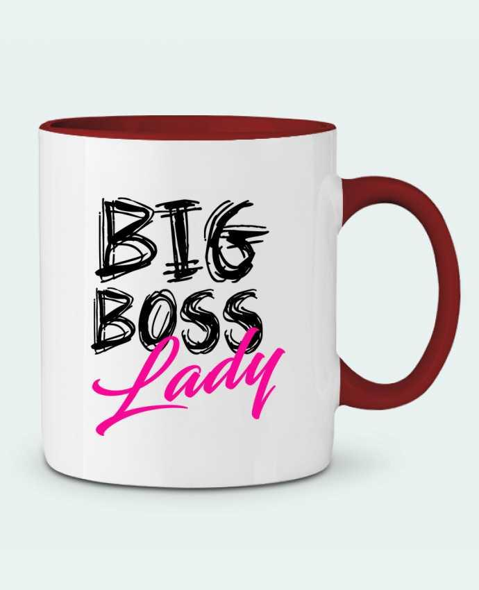 Mug en Céramique Bicolore big boss lady DesignMe
