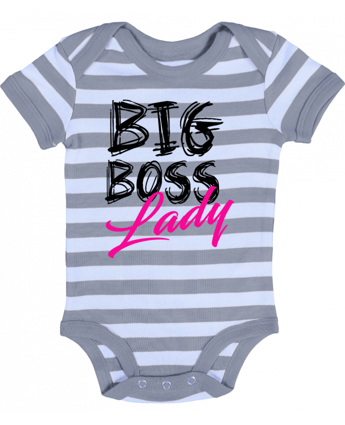 Body Bébé à Rayures big boss lady - DesignMe