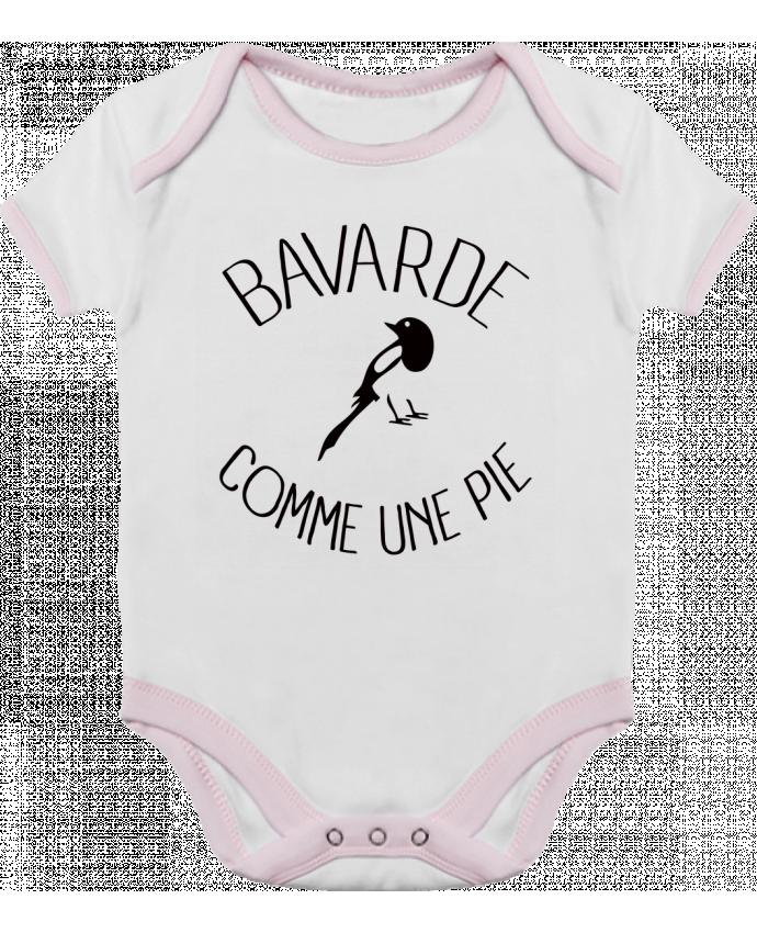 Body Bébé Contrasté Bavarde comme une Pie par Freeyourshirt.com
