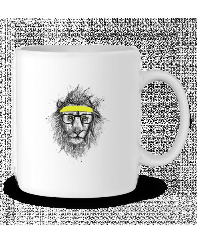 Mug en Céramique Hipster Lion par Balàzs Solti