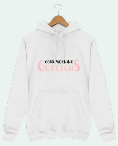 Sweat Shirt à Capuche Homme Good morning gorgeous par tunetoo