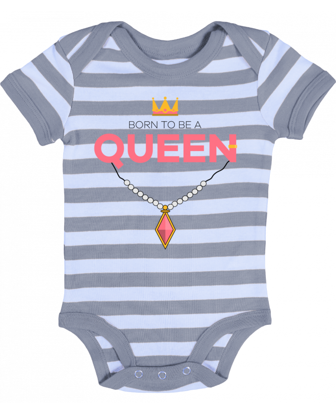 Body Bébé à Rayures Born to be a Queen - tunetoo