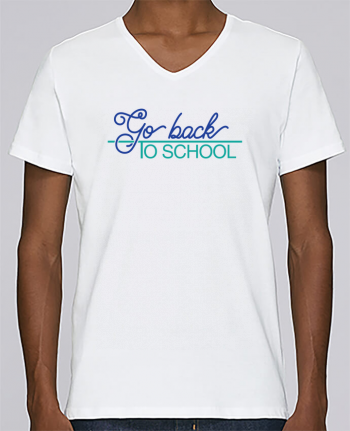 T-shirt Col V Homme Stanley Relaxes Go back to school par tunetoo