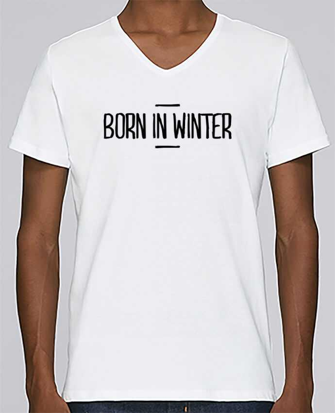 T-shirt Col V Homme Stanley Relaxes Born in winter par tunetoo