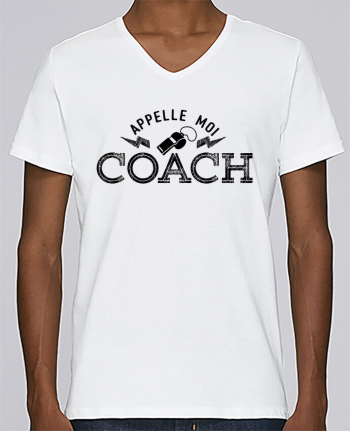 T-shirt Col V Homme Stanley Relaxes Appelle moi coach par tunetoo