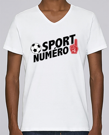 T-shirt Col V Homme Stanley Relaxes Sport numéro 1 Football par tunetoo