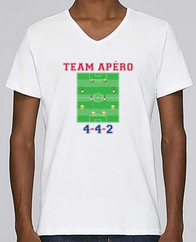 T-shirt Col V Homme Stanley Relaxes Team apéro football par tunetoo