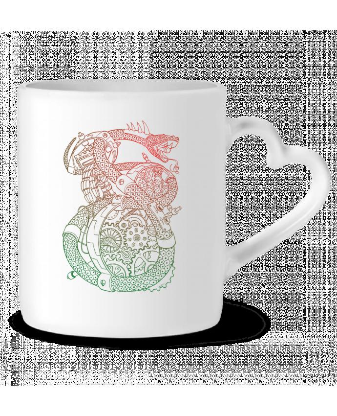 Mug Coeur Méca Serpent par Tomi Ax