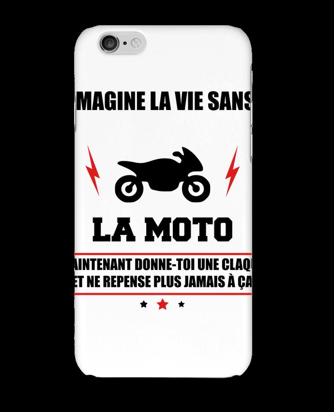 Coque 3D Iphone 6 Imagine la vie sans la moto Benichan- Tunetoo