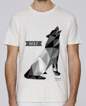 T-Shirt Col Rond Stanley Leads WOLF Origami par Mauvaise Graine